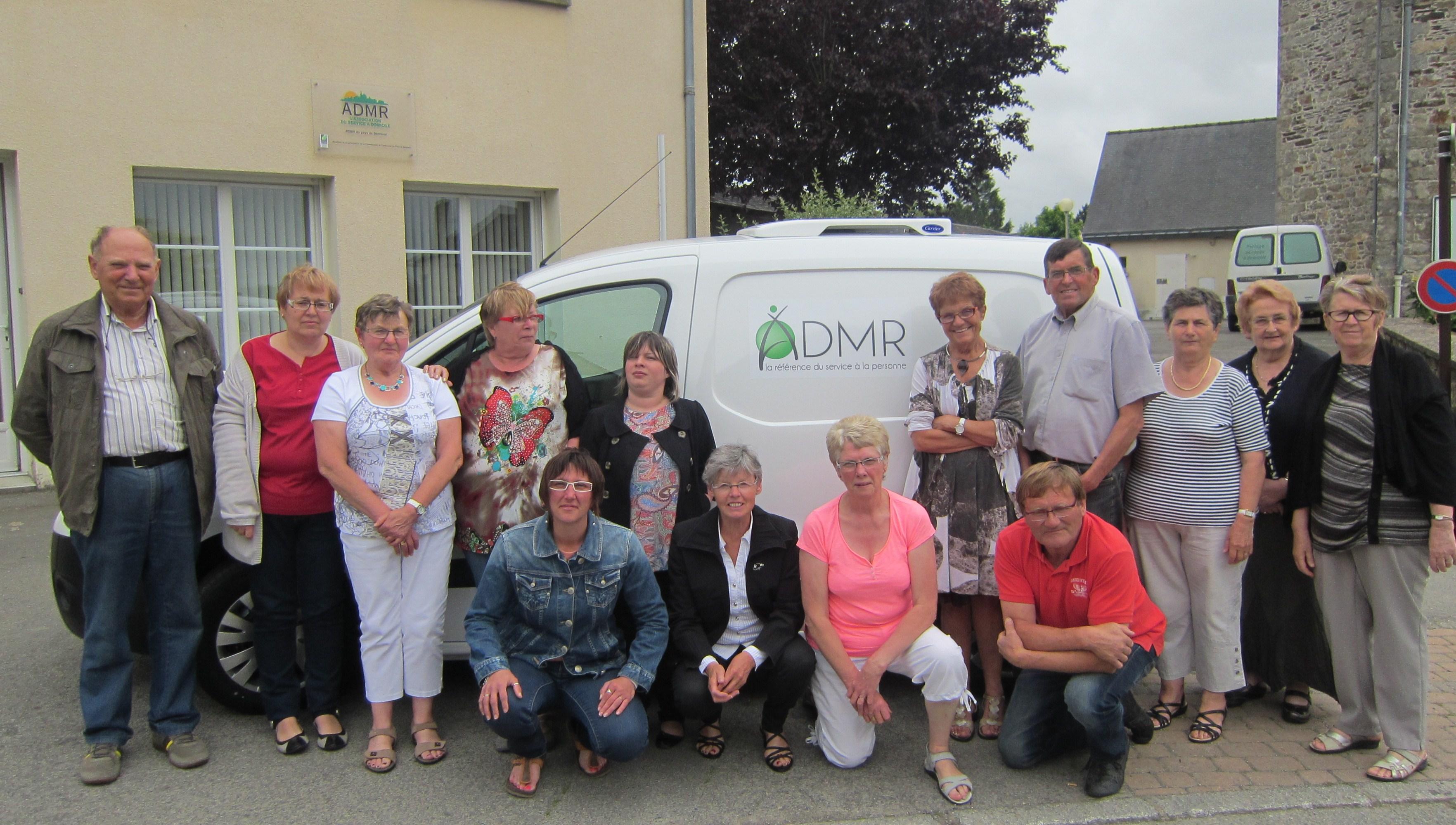Nouveau véhicule de portage de repas à l'ADMR du Pays de Bécherel