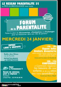 Forum de la parentalité organisé par le réseau parentalité 35 du pays de Brocéliande