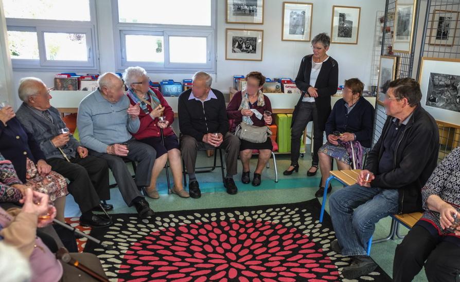 Animation personnes âgées exposition bibliothèque d'Irodouër