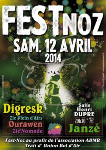Fest Noz ADMR TUBA avril 2014