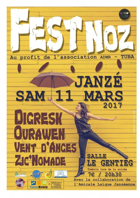 Fest Noz ADMR TUBA Mars 2017 à Janzé
