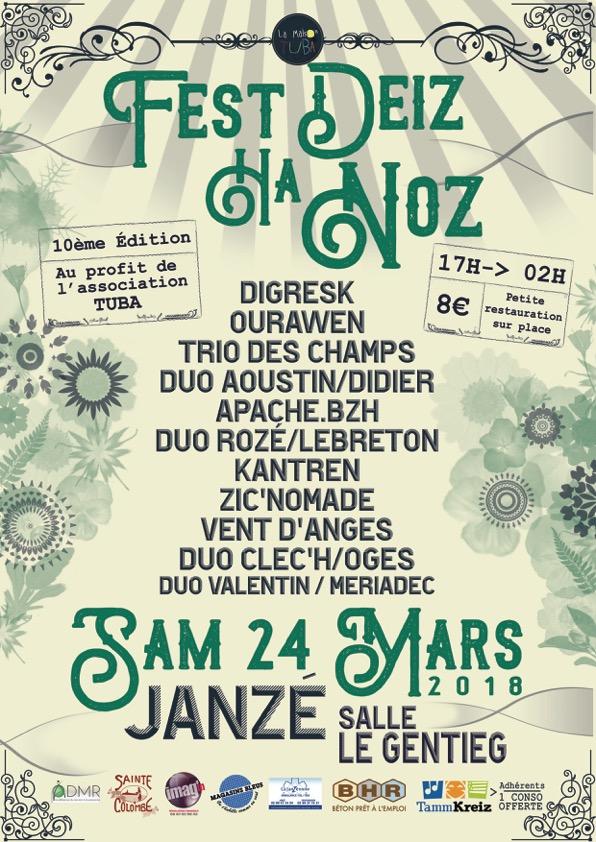 Fest Noz organisé au profit de l'ADMR TUBA