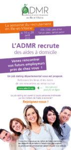Calendrier du jobdating ADMR départemental du 16 au 20 avril
