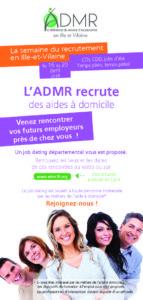 Calendrier jobdating ADMR en Ille-et-Vilaine du 16 au 20 avril 2018