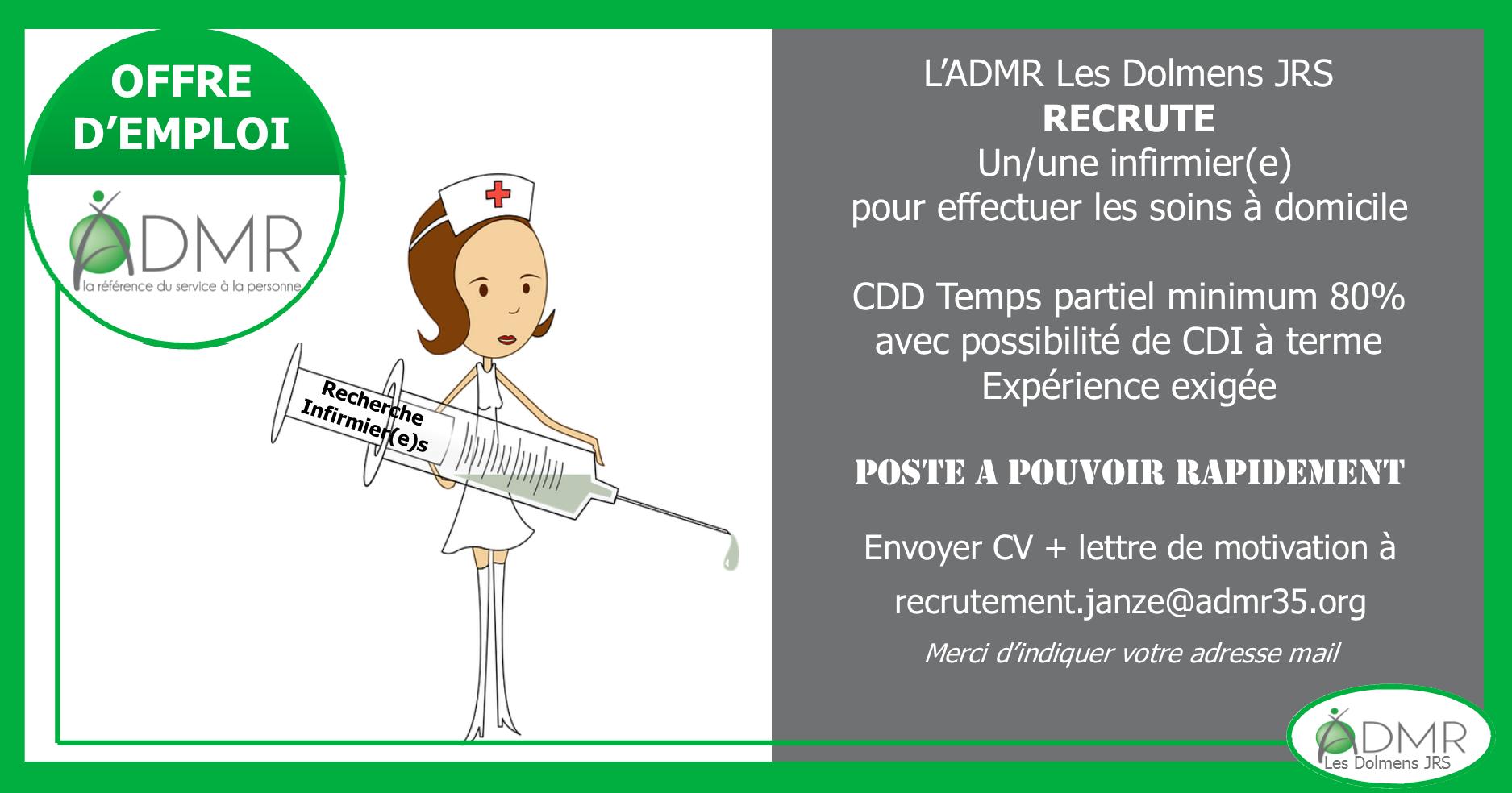 Offre infirmier (H/F) Retiers/Janzé
