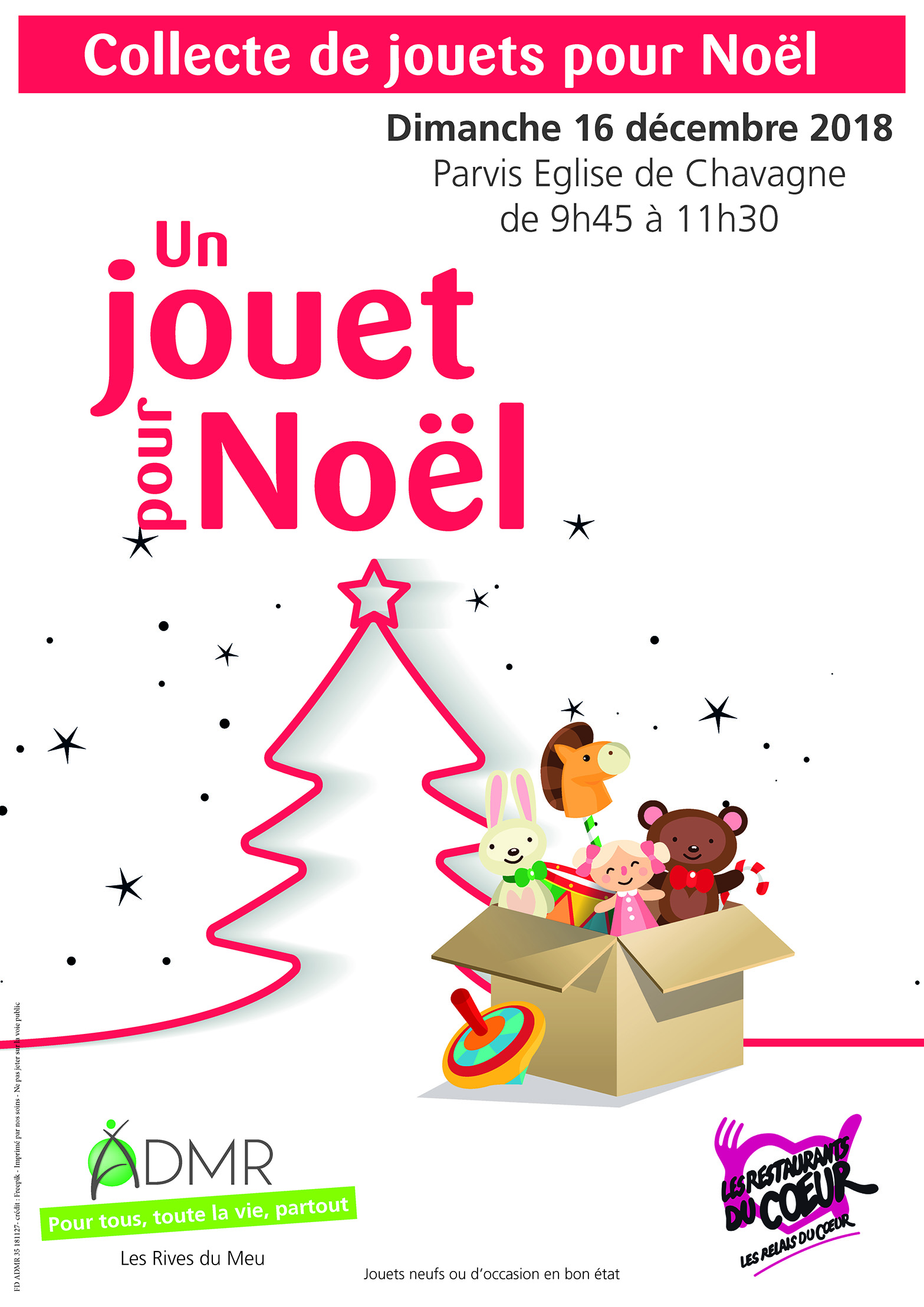 Collecte jouets - sapin Noël