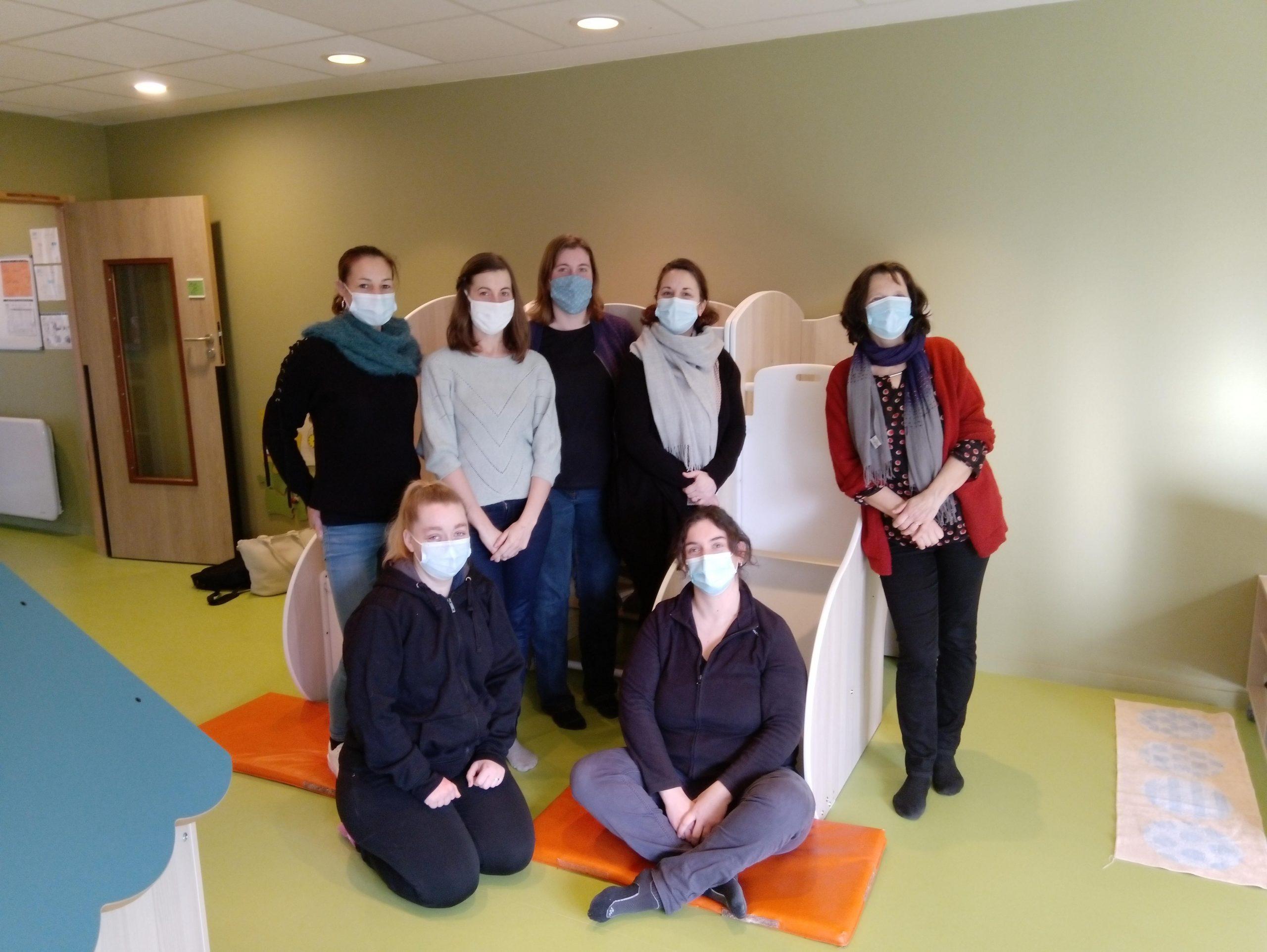 L'équipe de professionnels de la petite enfance de l'ADMR de Tinténiac