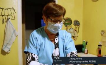 Jacqueline aide-soignante à l'ADMR de Janzé