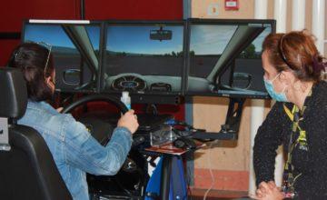 Aide à domicile sur simulateur aux risques routiers
