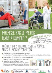 Plaquette de présentation Intéressé par le Métier d'aide à domicile